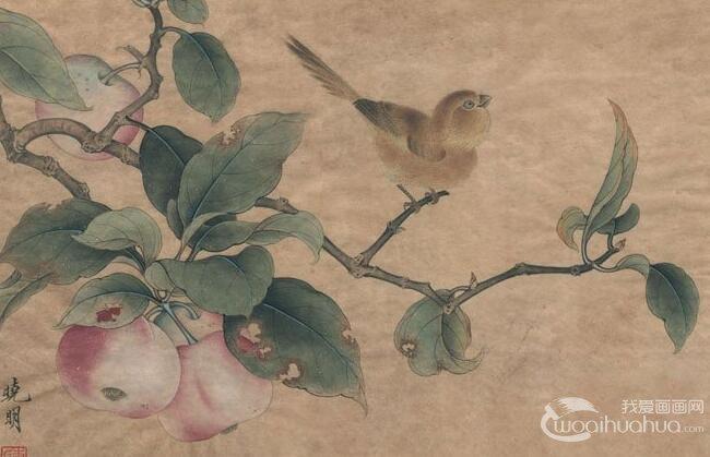 李晓明工笔教程 临摹花鸟画 杨柳乳雀图 绘画图文步骤 4