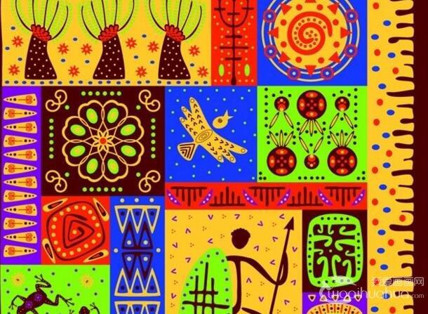 色彩艳丽异域风情装饰画:非洲民族风情装饰画图片