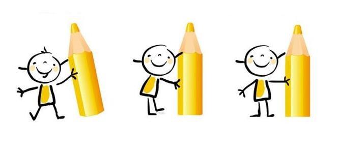 儿童卡通画 15个可爱的小人