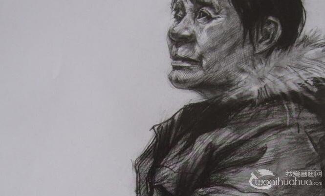 2012中国美术学院美考半身人物素描优秀试卷作品评析