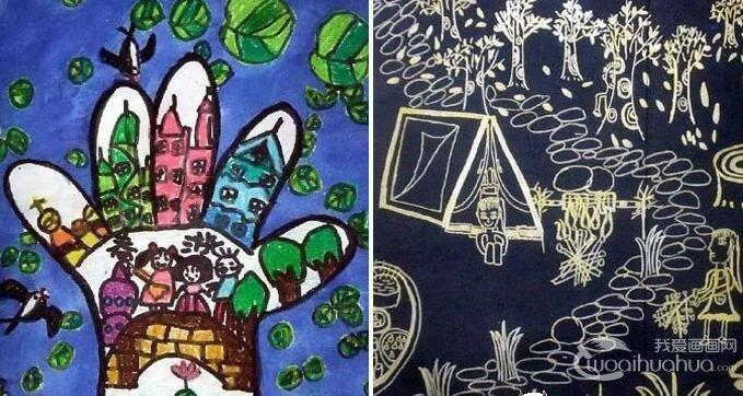 儿童画春游 关于春天春游的儿童画图片大全