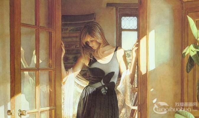 家居女性唯美写实水彩画图片26P_Steve Hanks水彩名画欣赏