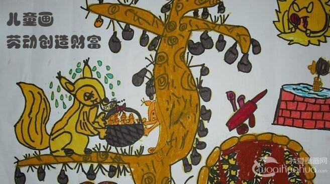 五一劳动节儿童画