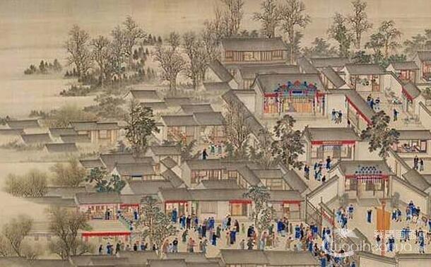 《康熙南巡图》第七卷:康熙南巡无锡至苏州完整高清大图