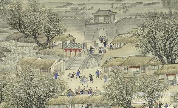 《康熙南巡图》第三卷:康熙南巡至山东境内情景完整高清大图