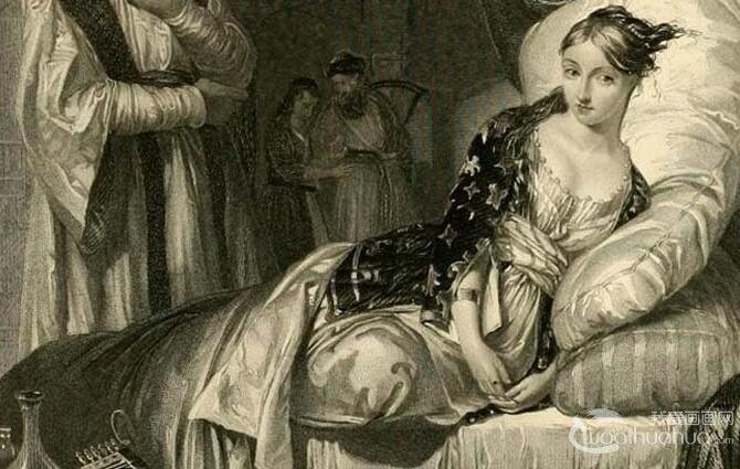 欧洲女性人物素描高清图:古典美女写实素描欣赏13P