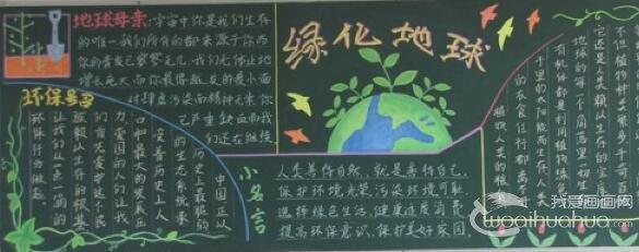 节能环保_保护环境,绿色低碳环保手抄报,黑板报,图片
