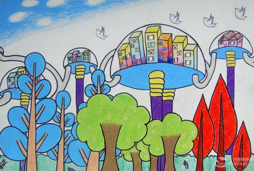 科幻画儿童美术教案三:学习创作和提高科幻画欣赏能力