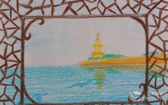 初二学生期末美术考试优秀绘画作品30副