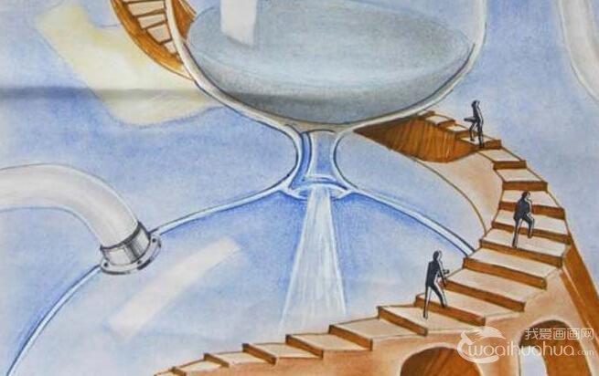 初中科幻画获奖作品 梦想中的未来水上城市 未来世界科幻画 儿童画教