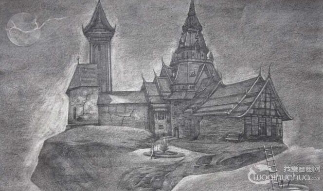 童话中的城堡简笔画,童话城堡简笔画图片大全(2)
