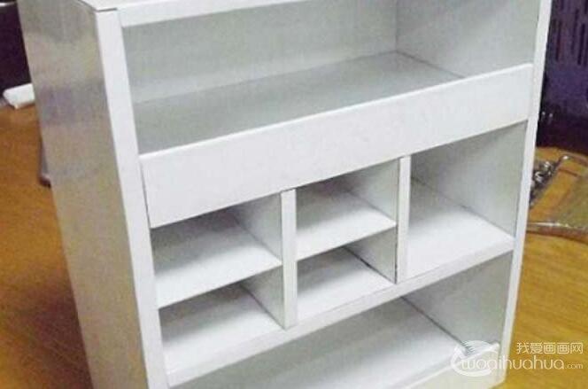 废物利用手工制作教程:用废旧纸箱纸手工制作收纳柜