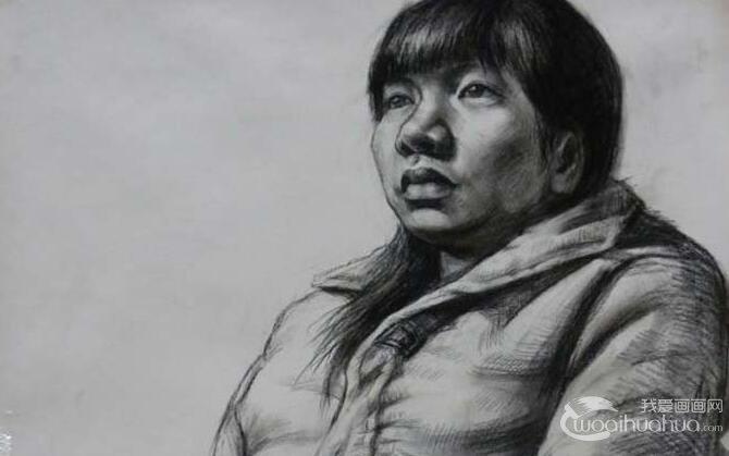 女性人物素描半身像绘画教程及高考美术素描训练注意要点