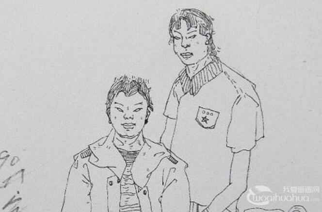 广东美考人物速写试卷:老师与学生速写作品30副高清大图