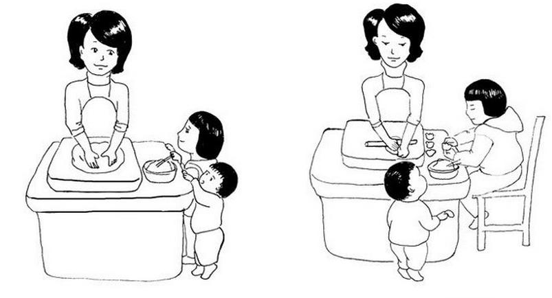 儿童画欢度春节图片 小朋友欢喜过新年作品 2