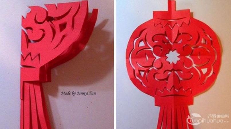 灯笼的剪纸DIY教程:中国传统剪纸灯笼制作步骤