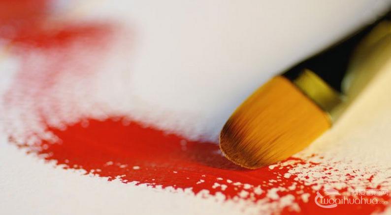 四种水粉画笔的种类和用法
