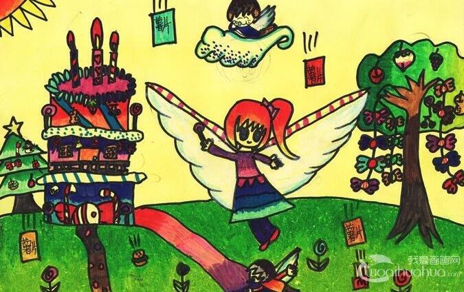 儿童梦幻水彩画:我的花园蛋糕