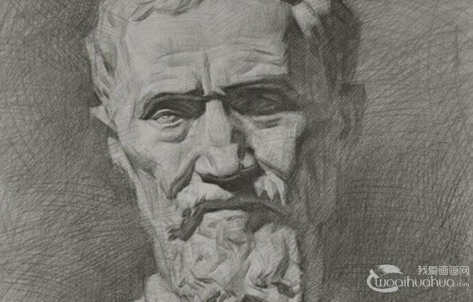 素描石膏像教程_素描几何体_素描圆柱体教程_我爱画画