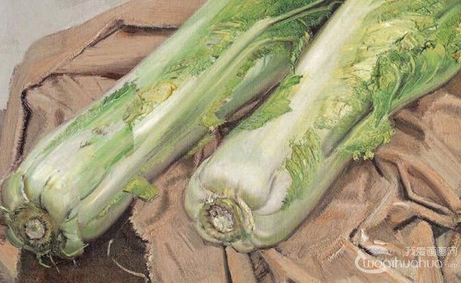 青年画家忻东旺油画静物:16副白菜油画作品欣赏