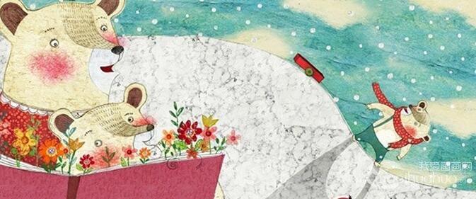儿童插画欣赏:优秀儿童和动物卡通插画17P