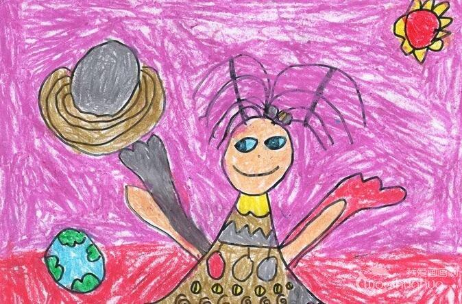 彩色铅笔卡通梦想画:小仙女--金鹰杯儿童画大赛参赛作品