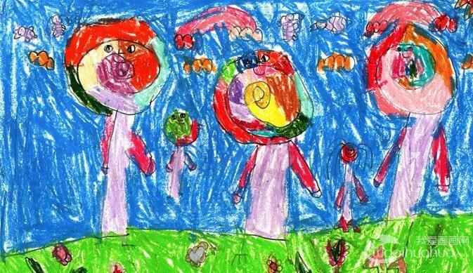 卡通梦想画:五彩棒棒糖--金鹰杯儿童画大赛参赛作品