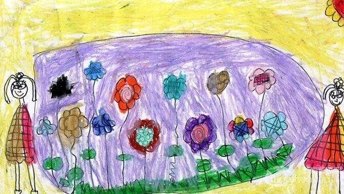 彩色铅笔梦想画:花园畅想--金鹰杯儿童画大赛参赛作品