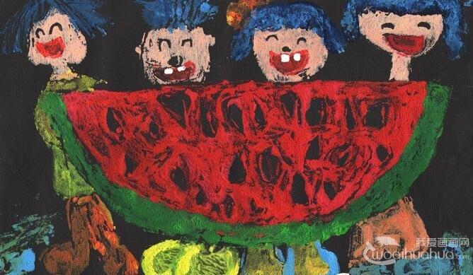 西瓜简笔画图片 各种各样的简笔画西瓜图片12副(2)
