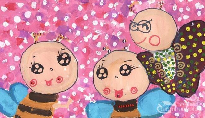 水粉卡通画:梦想精灵--金鹰杯儿童画大赛参赛作品