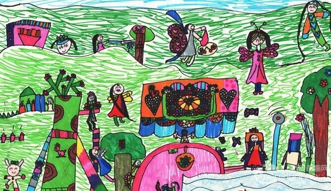 水彩科幻画:梦想乐园--金鹰杯儿童画大赛参赛作品-海洋科幻画 我爱画