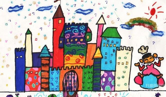 科幻画:巡游城堡--金鹰杯儿童画大赛参赛作品图片