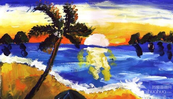 水粉风景画:风景画--金鹰杯儿童画大赛参赛作品