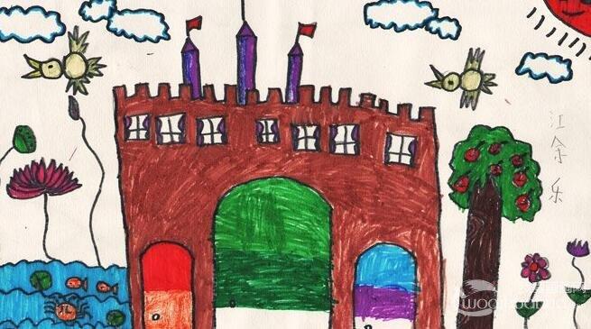 童話中的城堡簡筆畫,童話城堡簡筆畫圖片大全(2)