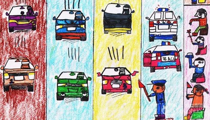 """油画棒:小小赛车手--2012""""金鹰杯""""儿童画大赛参赛作品"""