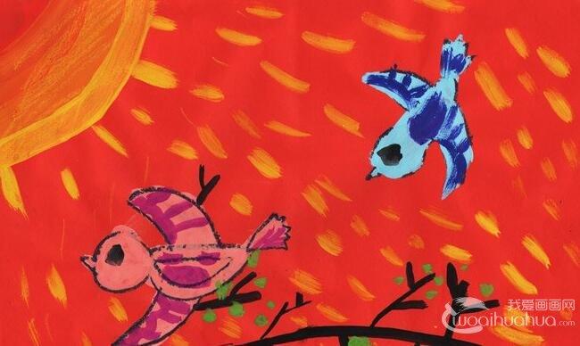 """水粉画:春天来了--2012""""金鹰杯""""儿童画大赛参赛作品选登"""