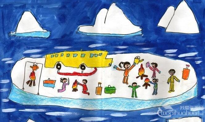 """科技画:南极之旅--2012""""金鹰杯""""儿童画大赛参赛作品选登"""