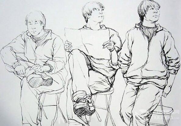 广州美术学院学生优秀人物速写作品4P