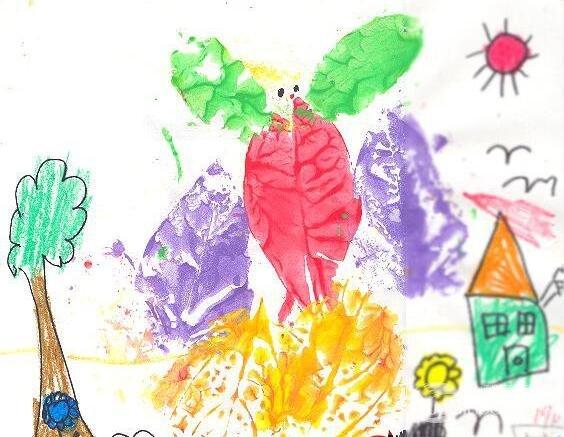 幼儿园大班陶艺活动:树叶印画的教学教案
