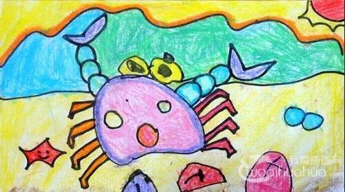 幼儿园中班美术教案:教孩子们学画螃蟹图片