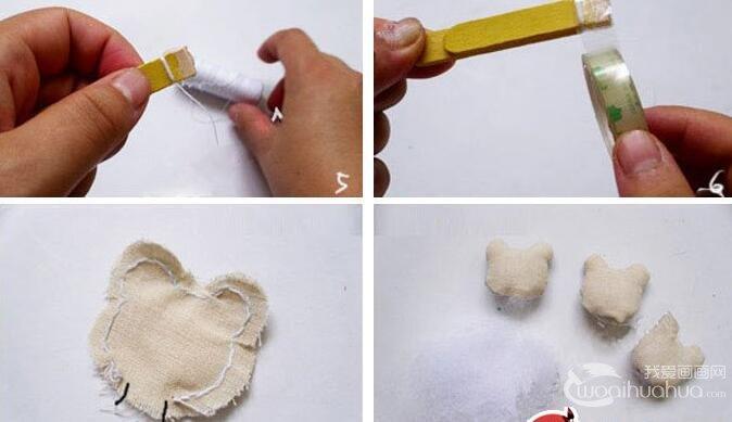 用冰棒棍子手工制作成漂亮的卡通书签的方法教程