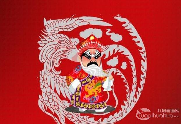 戏剧丑角卡通人物形象4P,中国戏剧人物卡通画图片