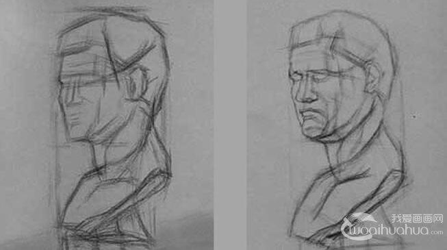 结构素描教程:结构素描的意思及石膏头像结构素描画法步骤