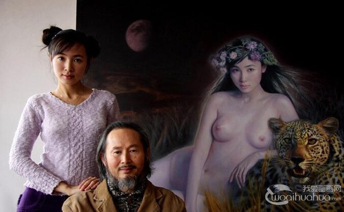 画家李壮平及其模特女儿李勤介绍