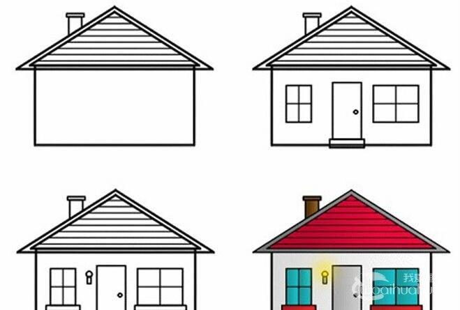 简笔画小房子画法:六步学会画房子简笔画