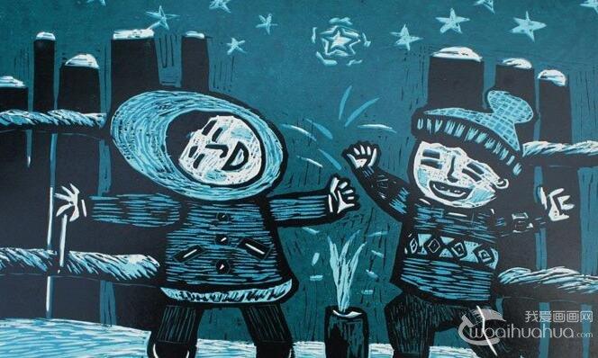 儿童版画作品欣赏_高清儿童版画图片