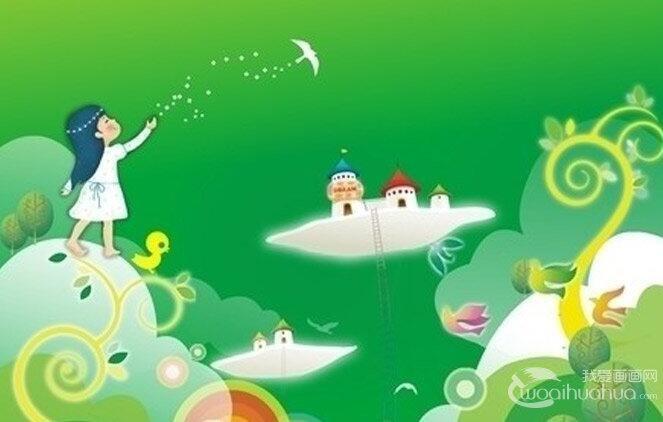幼儿园卡通画,幼儿园墙壁装饰卡通画5P
