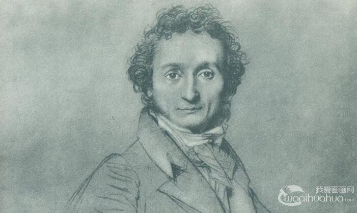 安格尔《尼可洛.帕格尼尼》_著名人物素描作品赏析