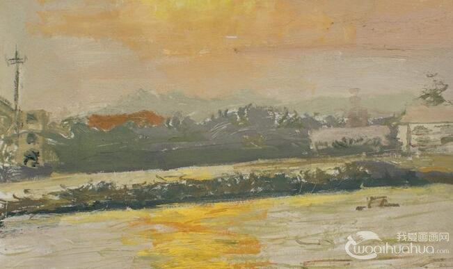 手绘水粉画风景,水粉画的手绘风景画
