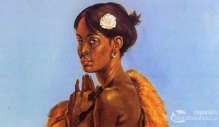 油画人物图文教程:黑人女性人体油画教程